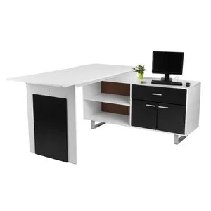 festnight meuble bureau informatique en forme de l pour ordinateur bureau dangle meuble de bureau avec