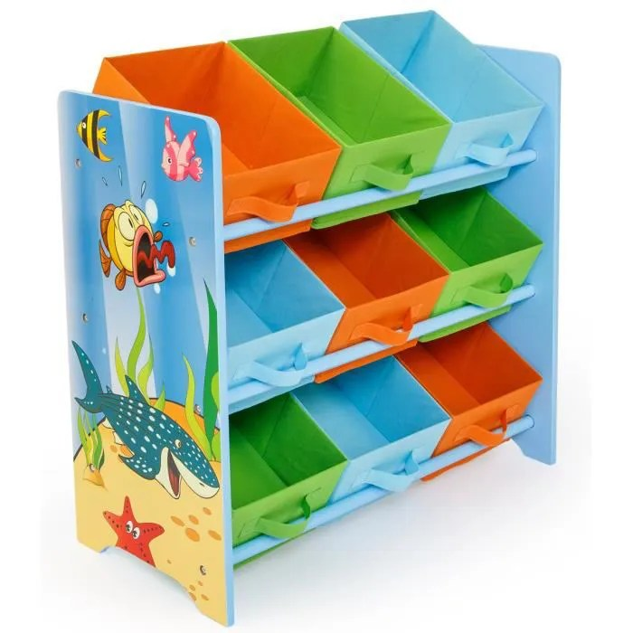 meuble de rangement pour enfant motif poissons