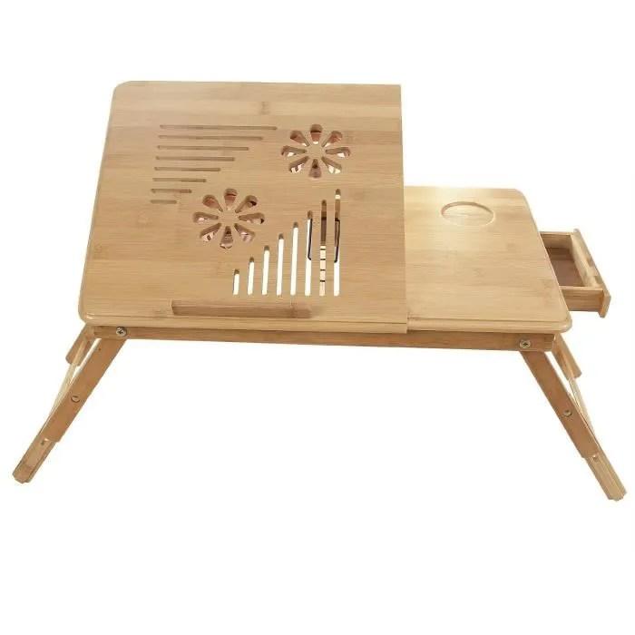 Table de lit Pliable pour PC Ordinateur Portable avec Refroidisseur et tiroir  Achat  Vente
