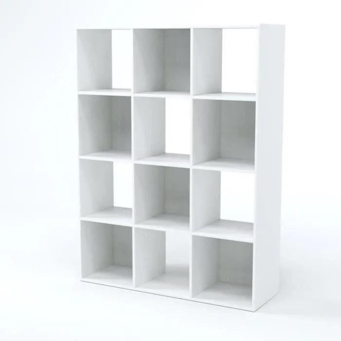 COMPO Meuble de rangement contemporain blanc mat  L 92 cm  Achat  Vente petit meuble