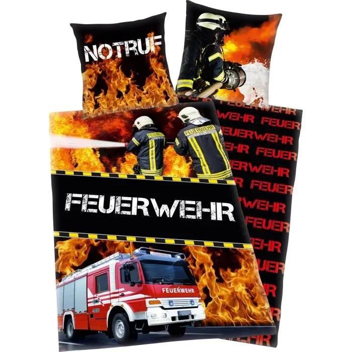 Parure De Lit Housse De Couette Camion De Pompier Achat