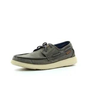 chaussures bateau skechers bateau status melec homme gris