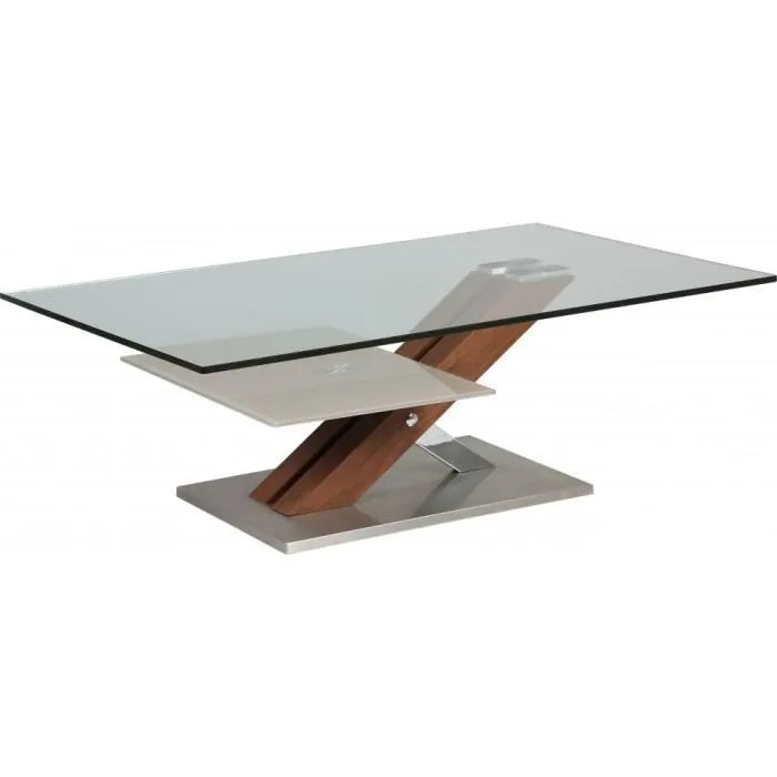 Table Basse Table Basse Design Verre Trempe Double Plateau Pie