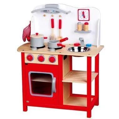 Cuisine jouet en bois cuisiniere bon appetit jeu imitation dinette pour enfant  Achat  Vente