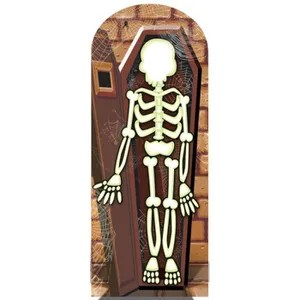 deco de fete murale squelette passe tete