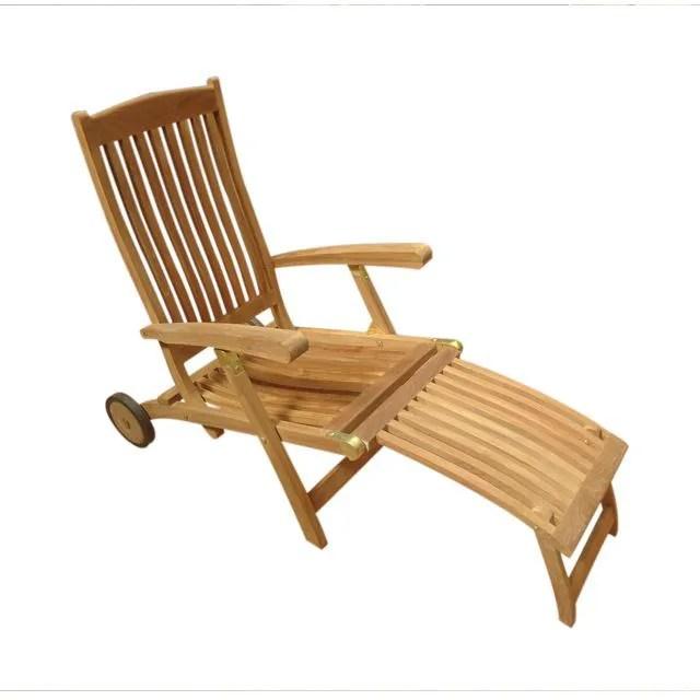 Chaise Longue En Teck Cancun  Achat  Vente Chaise Longue