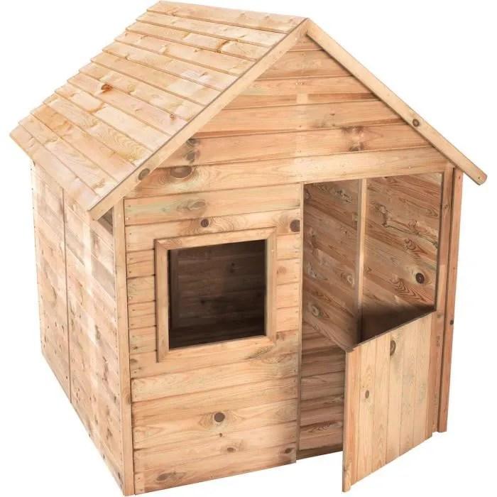 Cabane en bois pour enfant MARINA  Achat  Vente maisonnette extrieure  Cdiscount
