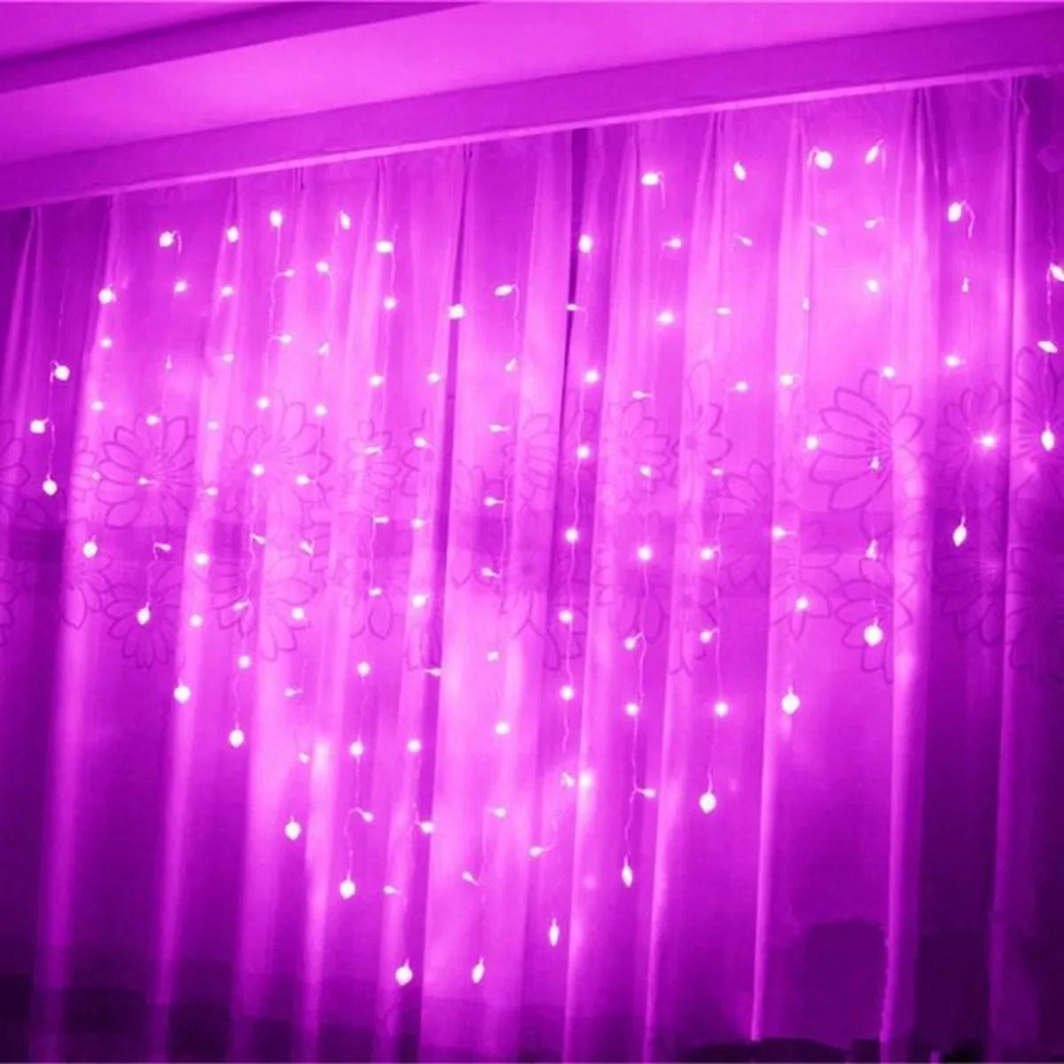 Rideau de lumire Rose 124 LED en forme de coeur de lamour fte mariage dcoration  Achat