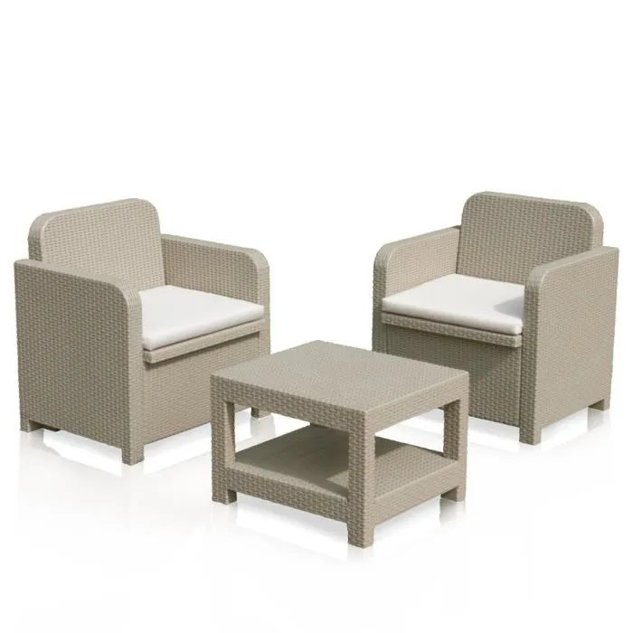 fauteuils de jardin made in italy en poly rotin synthetique 2 places giglio grand soleil cafe juta