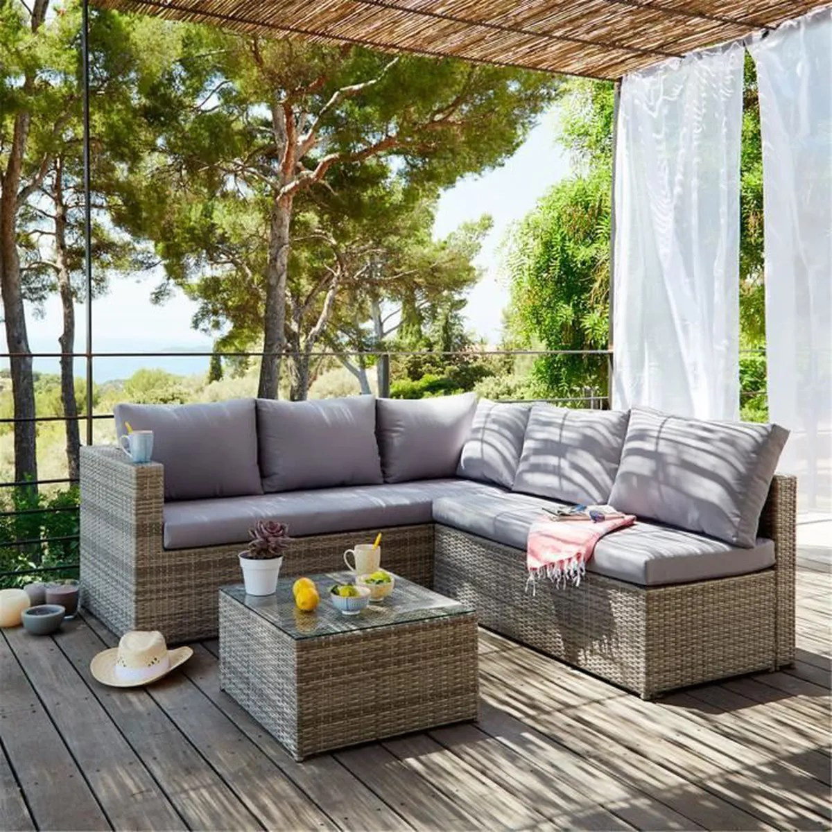 Best Salon De Jardin Rotin Synthetique Collection Corona Balcon ...