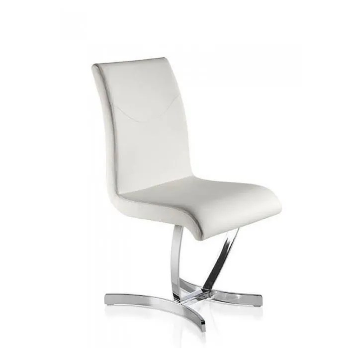 chaises salle a manger design comfy blanches x4