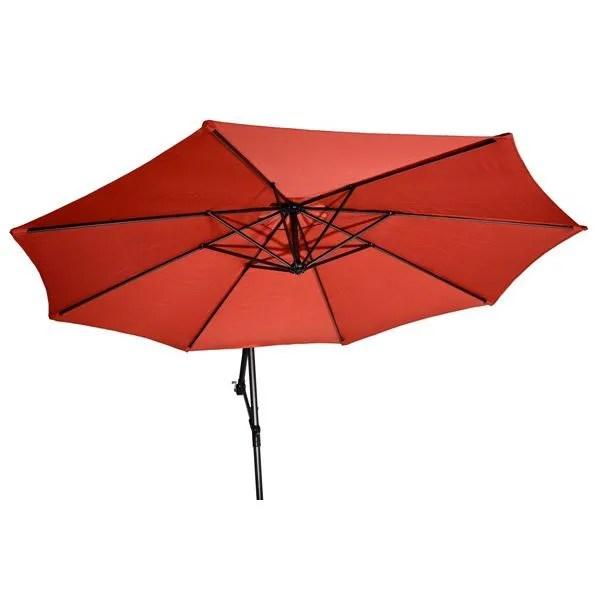 parasol parasol m excentre alu poly manivelle brique