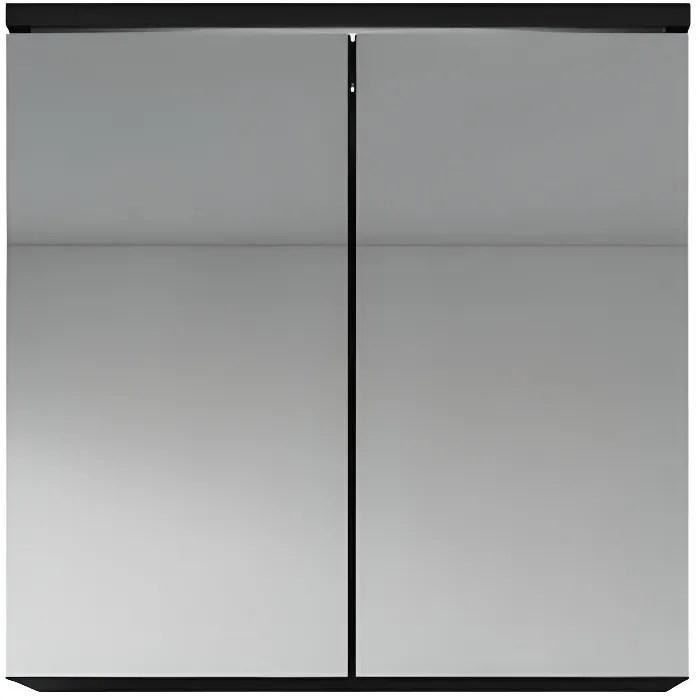 meuble a miroir 60x59 cm toledo noir miroir armoire miroir salle de bains verre armoire de rangement