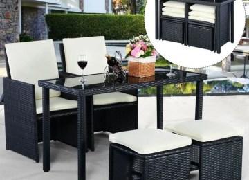 Salon De Jardin En Resine Tressee D Angle Luxe Poly Rotin | Miami 12 ...