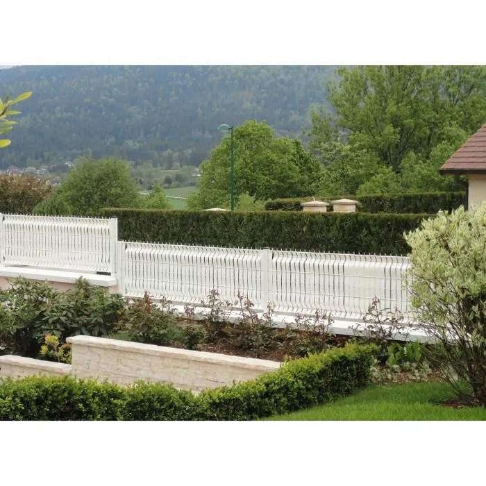 Lanire PVC pour palissade largeur 50 mm x 60 m100 clips Blanc  Achat  Vente clture