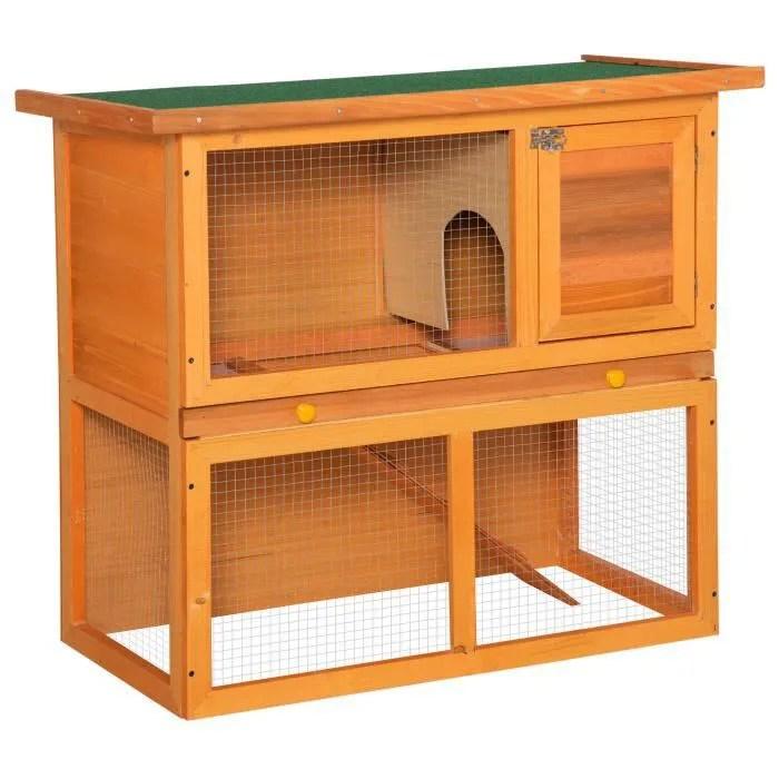 clapier clapier a lapin cage a lapin 2 etages plateau coul