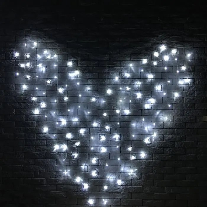 TEMPSA 3M 128LED Rideau lumineux mariage coeur dco intrieur 220V EU PRISE Blanc  Achat