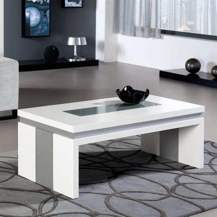 table basse relevable concetto en laque blanc