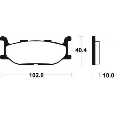 Yamaha 500 T-MAX XV 535-750-1100 VIRAGO-PLAQUETTES FREIN