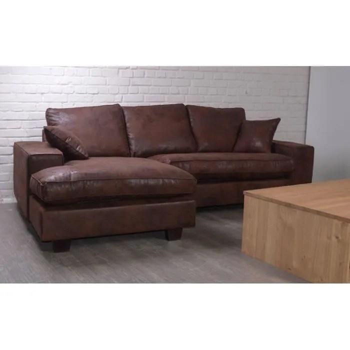 reversible sofa condo sized sectional ottawa canapé d'angle gauche en microfibre imitation cuir meuble ...