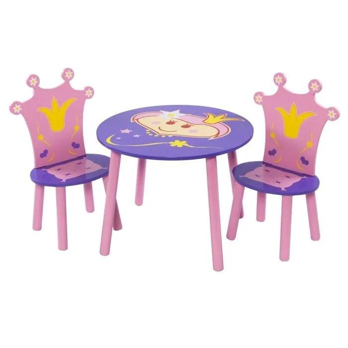 FIRTS BABY SAFETY Ensemble de deux chaises et dune table Motif Princesse Rose  Achat  Vente