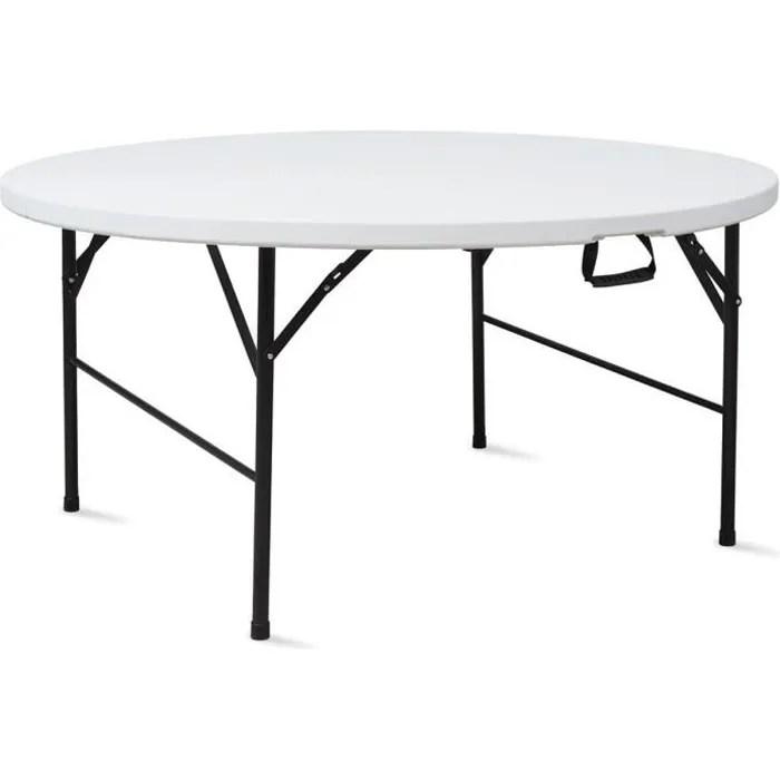 table pliante ronde 180 cm portable achat vente table de jardin table pliante ronde 180 cm portable cdiscount