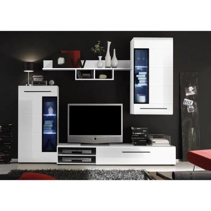 SKIN Meuble TV Mural 235cm Avec Clairage LED Blanc
