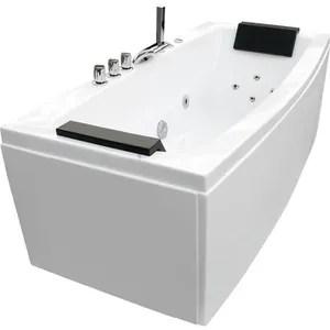 baignoire kit balneo baignoire balneo 170x80x68cm blanc