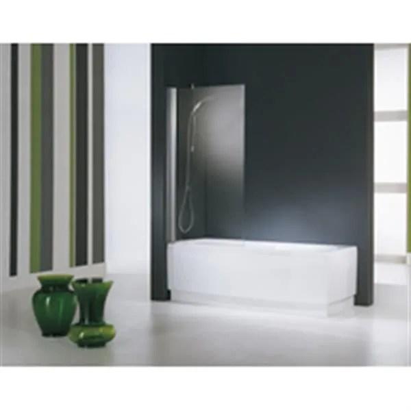 novellini pare baignoire aurora 1 panneau pivotant 80x150 cm verre trempe transparent blanc epaisseur du verre 6mm ref auroran1801a
