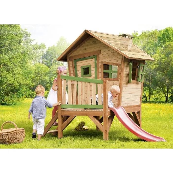AXI Maisonnette Enfant Cabane en bois sur pilotis Robin  Achat  Vente balanoire  portique