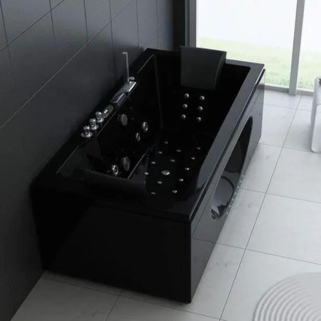baignoire balneo noire 2 places pas cher rechauffeur