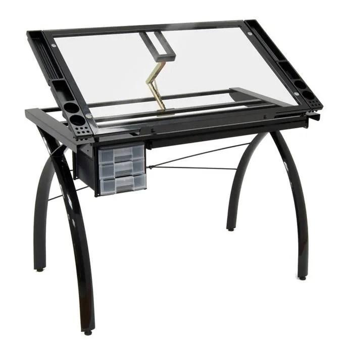 Table  dessin Futura noire  Achat  Vente table a dessin Table  dessin Futura noire  Cdiscount