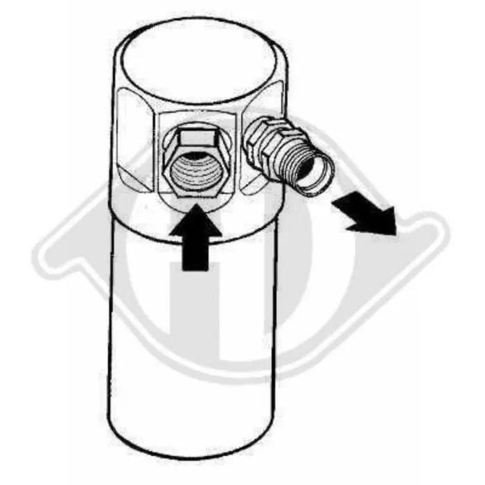 Filtre deshydrateur pour Alfa Romeo 145/146 annee 1994