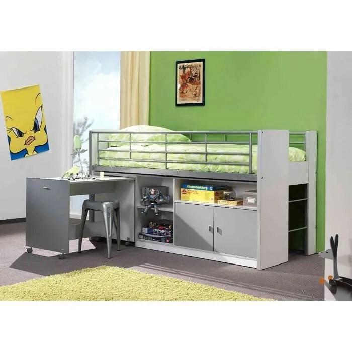 lit mezzanine lit mezzanine avec bureau coulissant enfant bon