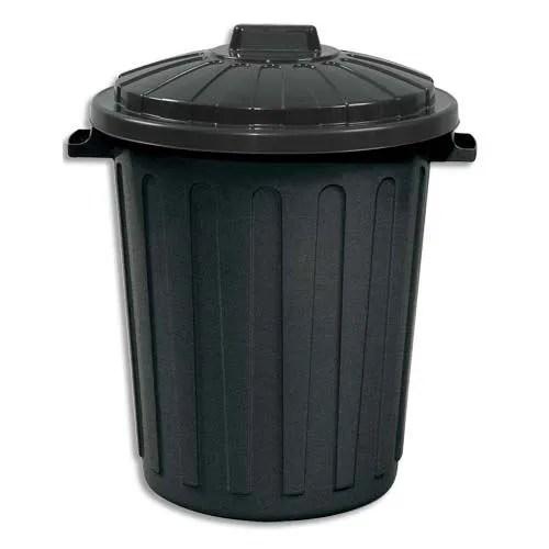 Poubelle de rue 75 litres en polypropylne noir  Achat  Vente poubelle  corbeille Poubelle de