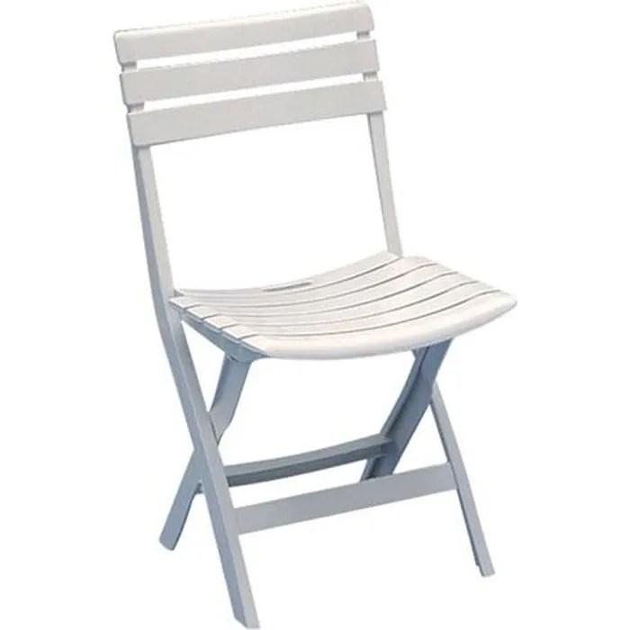 Chaise de jardin pliante Birki  blanc  Achat  Vente fauteuil jardin Chaise de jardin pliante