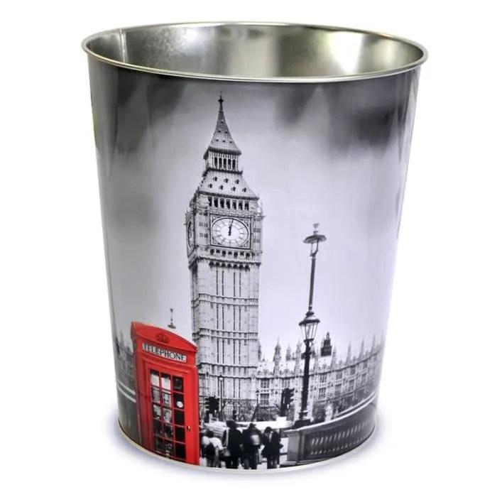 Corbeille Poubelle En Metal London Achat Vente Pot