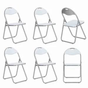 chaise lot de 6 chaises pliable chaises pliantes en pvc