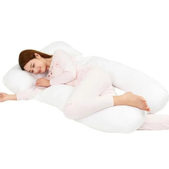 coussin de maternite oreiller de corps blanc