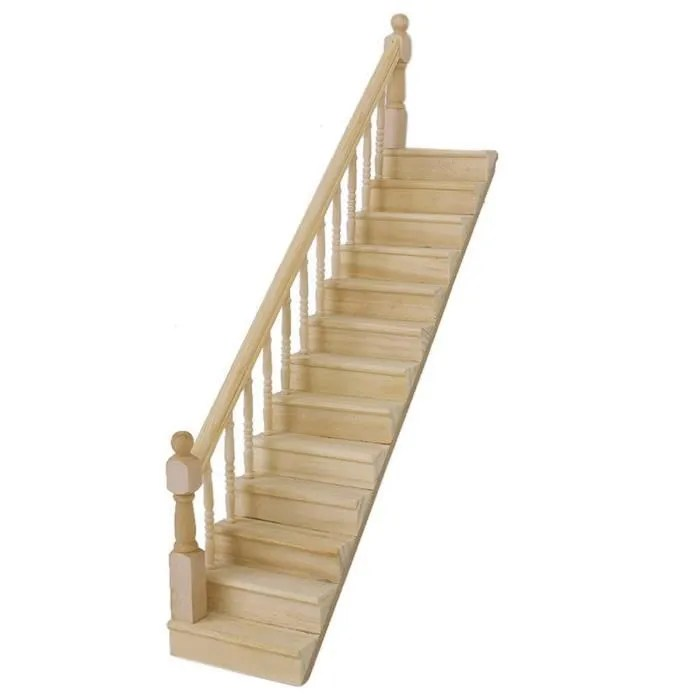 112 Dollhouse Escaliers En Bois Miniatures Bricolage Avec