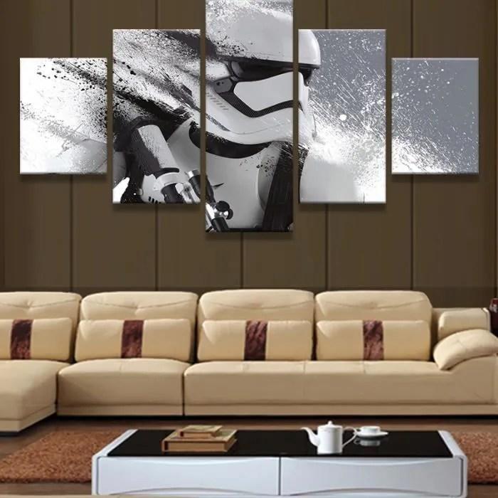 Pas de cadre 5 Pieces Star Wars Modulaire Imprim Imprims modernes Dcoration pour salon