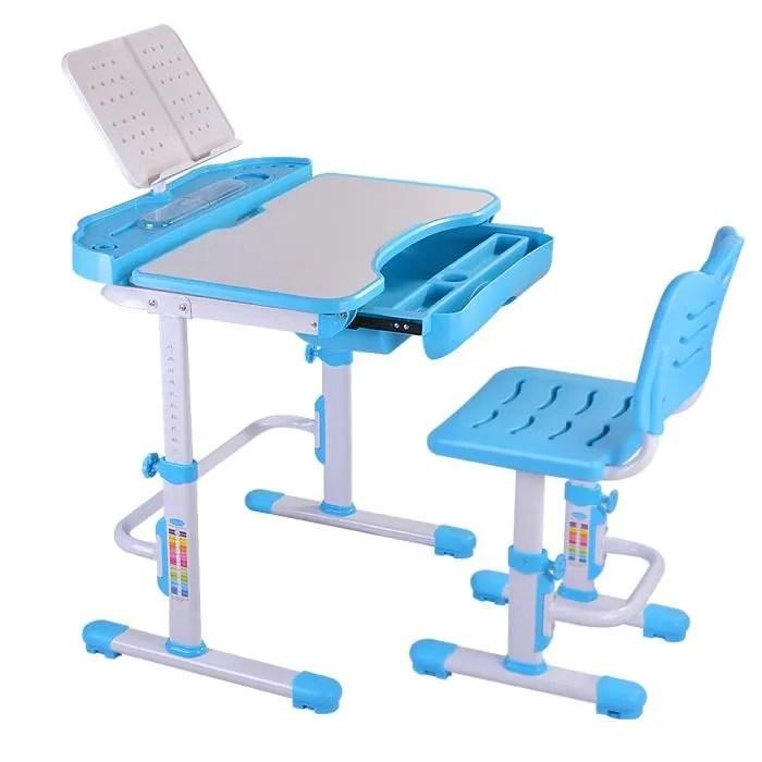 nidouillet ensemble bureau et chaise enfants hauteur reglable pour enfants etudiant etude station de travail avec tiroir ab002