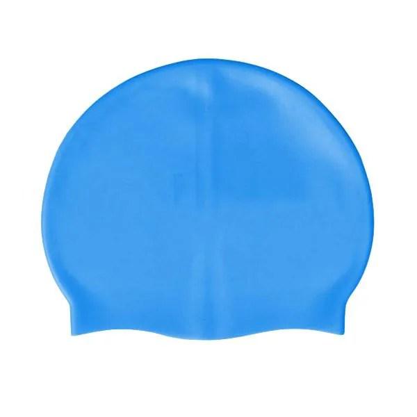Bonnet de bain en silicone bleu de taille unique  Prix pas cher  Cdiscount