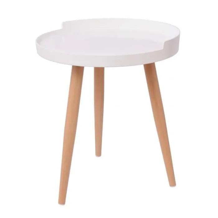 table basse vidaxl table basse ronde 40 x 45 5 cm blanc
