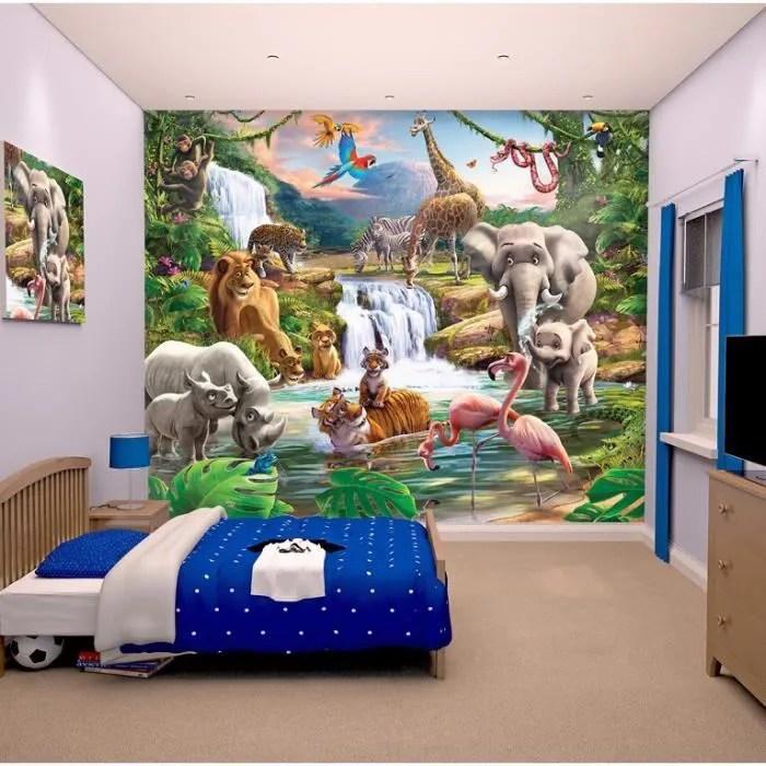 Papier peint enfant Fresque Murale Dcorative Jungle papier peint  Achat  Vente stickers