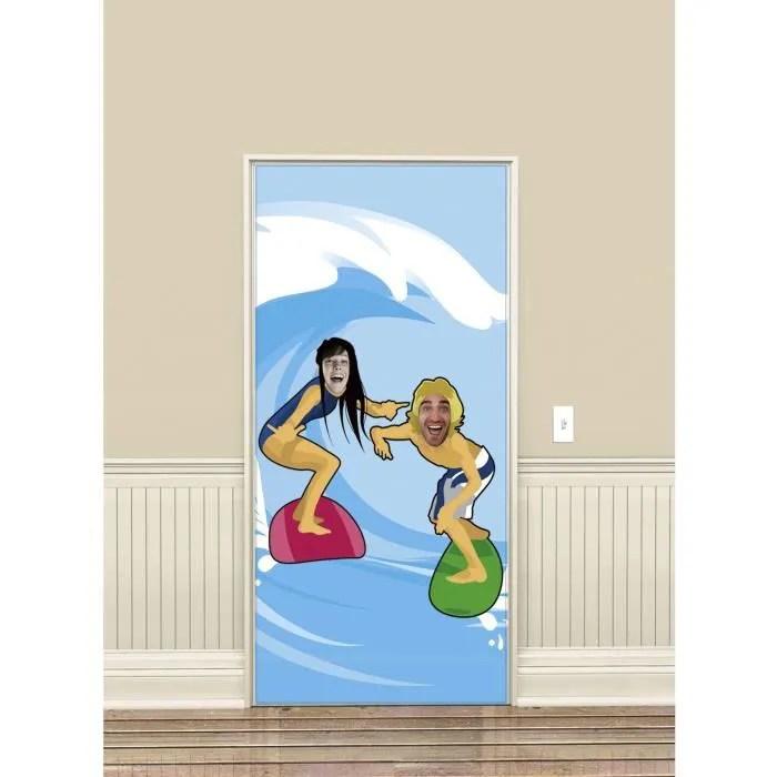 deco de fete murale decoration passe tete surfer hawai