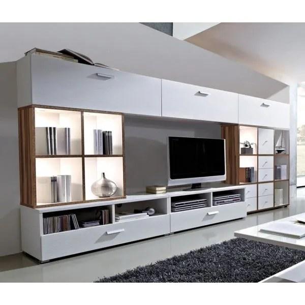 ensemble meuble tv et bibliotheque lali colori