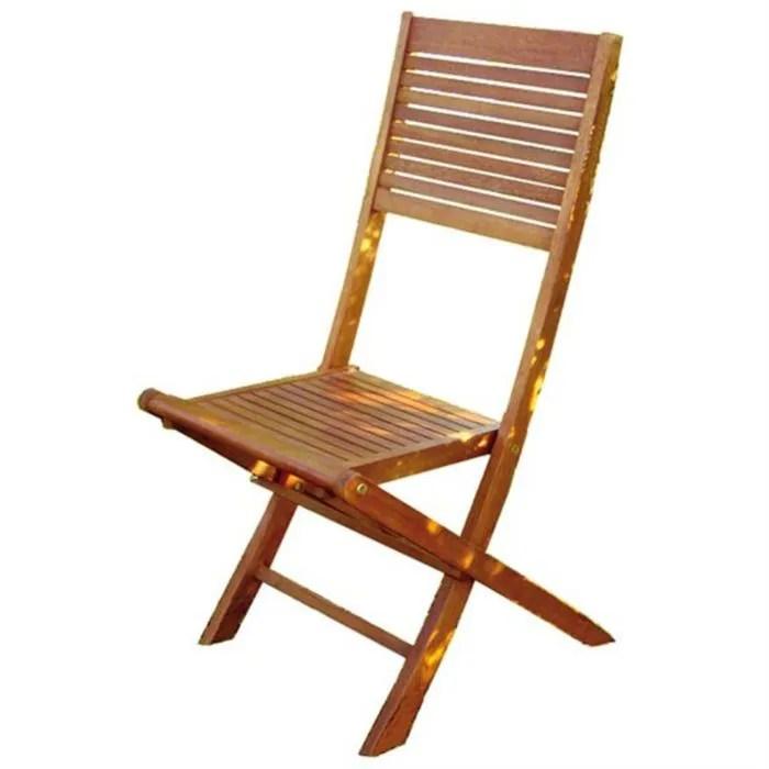 2 chaises de jardin pliantes en bois d eucalyptus  Achat  Vente fauteuil jardin 2 chaises de