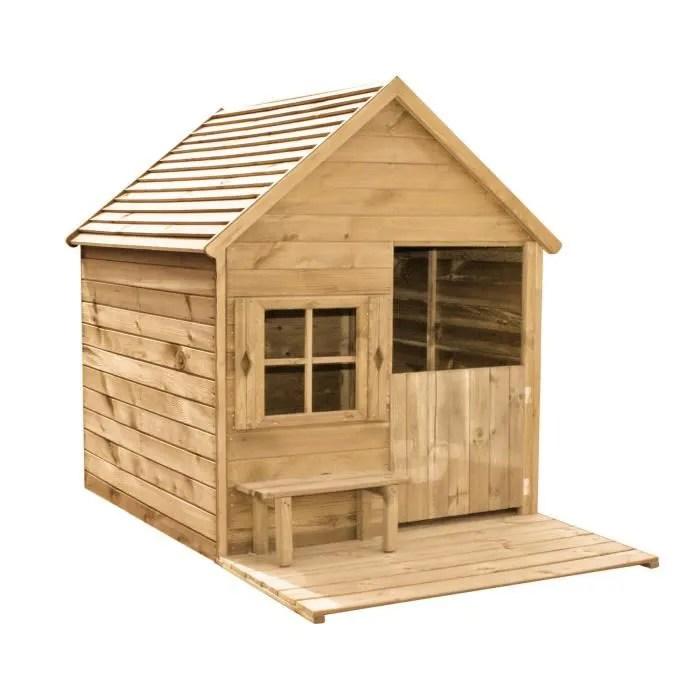 Juniors plein air cabane enfant en bois a peindre heidi xx for Cabane de jardin suisse