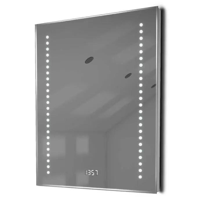 Miroir Salle De Bain Horloge | Miroir Avec Led Et Horloge De ...
